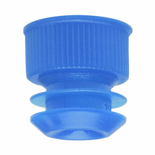 Test Tube Cap, Flange Type, 16mm, Blue (Case 10000)