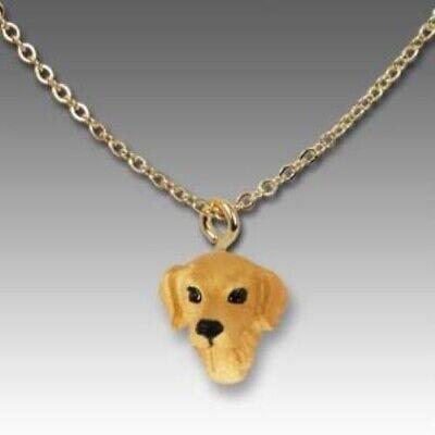Golden Retriever Jewelry (Dog on Chain GOLDEN RETRIEVER Resin Dog Head Necklace Jewelry Pendant )