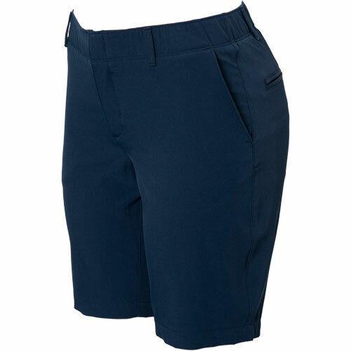 "UNDER ARMOUR UA Heatgear LINKS 9"" Navy Blue GOLF Shorts Womens Size 8  $75 NEW"