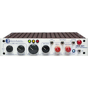 Summit Audio  2BA-221 - Microphone and Line Preamp