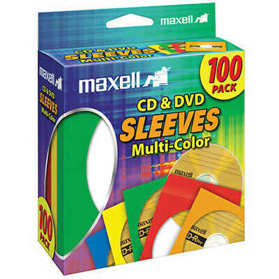 Maxell 190132 Cddvd Multi Colored Paper Sleeves 100 Pack