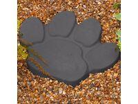 paw print stepping stones