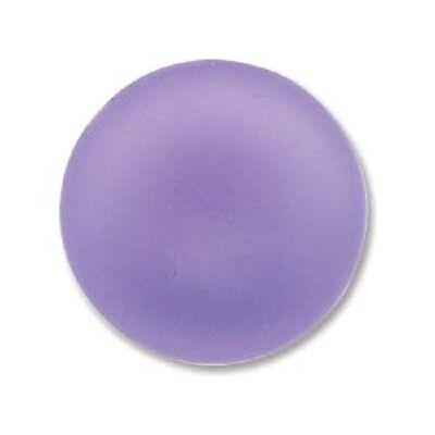 Round Cabochon Lavender - LUNASOFT Lustrous Lucite Cabochon 18mm Round Matte  LAVENDER