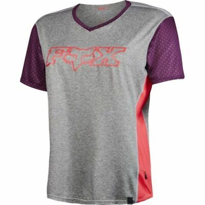 Fox Indicator Short Sleeve Women's Mountain Bike Mtb Jersey Grey Size