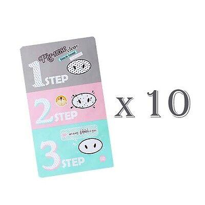 [Holika Holika] Pig Nose Clear Black Head 3-Step Kit x 10PCS
