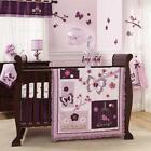 Purple Butterfly Crib Set