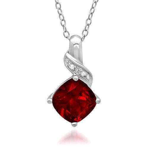 Ruby and diamond necklace ebay aloadofball Gallery