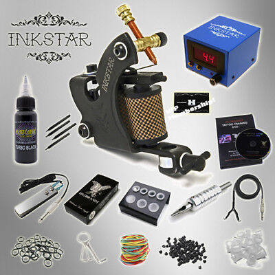 - Complete Tattoo Kit Professional Inkstar 1 Machine VENTURE Set GUN Black Pro Ink