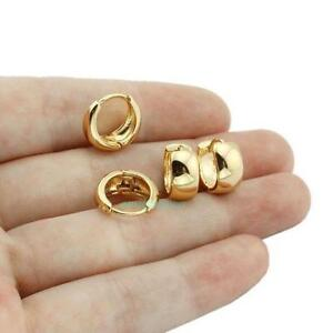 18k Gold Earrings Men