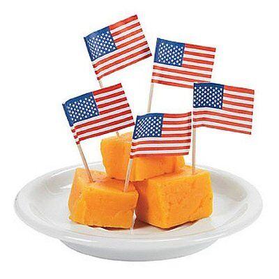 Flag Picks (American Flag Mini Picks Toothpicks - 100 per)