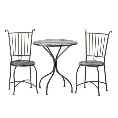 bistro table and chairs home garden ebay. Black Bedroom Furniture Sets. Home Design Ideas