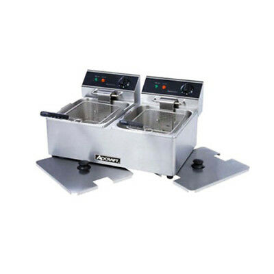 Adcraft Df-6l2 Double Electric Countertop Deep Fryer