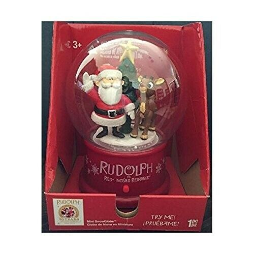 0867868542044.5 in. Musical Snow Globe - Rudolph and Santa