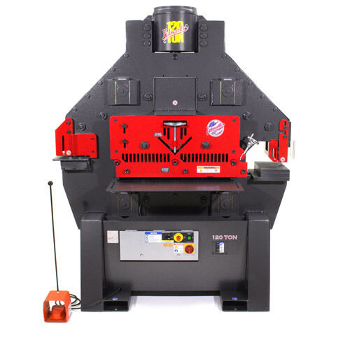 Brand New Edwards 120 Ton Iron Worker + 9 Standard Round Punch & Die Sets