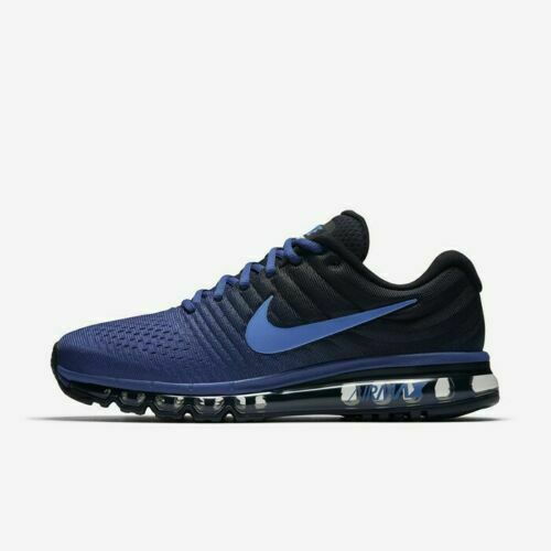 hot sale online 4c52e fce0d Nike Air Max 2017 Deep Royal Blue Black 849559-401 Men's Running Shoes NEW!