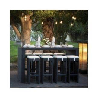 Brand NEW PE Rattan Wicker Outdoor Chairs Bar Table setting 9 Pcs Auburn Auburn Area Preview