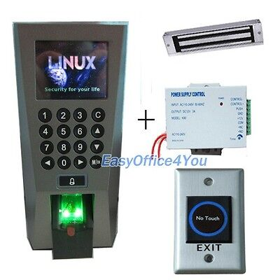 Fingerprint Access Control Systempower Supplymagnetic Lock And Time Attendance