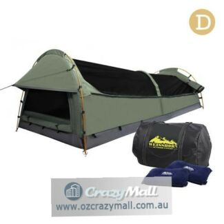 Weisshorn Camping Canvas Double Swag Aluminum Poles