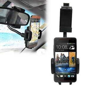 Universal Car Rearview Mirror Mount Holder For Mobile Phone HTC Butterfly S
