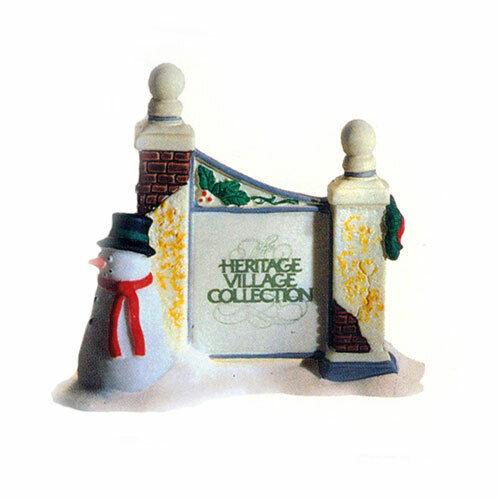 Dept 56 Dickens Village ~ Village Sign With Snowman ~ MIB 55727