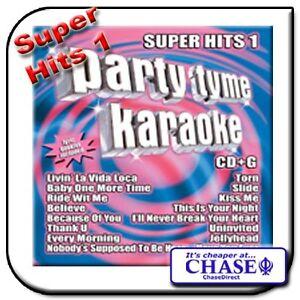 PARTY TYME KARAOKE CD CDG CD+G DISC BACKING TRACKS SUPER HITS 1 POP