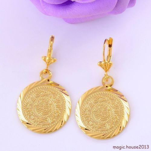 14k gold coin earrings ebay