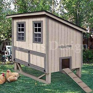 4 39 x6 39 modern style chicken hen house coop plans 90406m ebay for 4x6 chicken coop