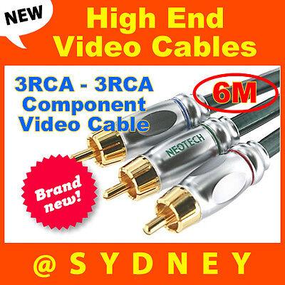 High-end NEOTECH Origin 6m 3RCA - 3RCA Component Video Cable-24k Gold Connectors 6m Component-video
