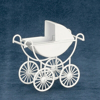 Dollhouse Miniature Doll Carriage Baby White T8433  1:12 Scale