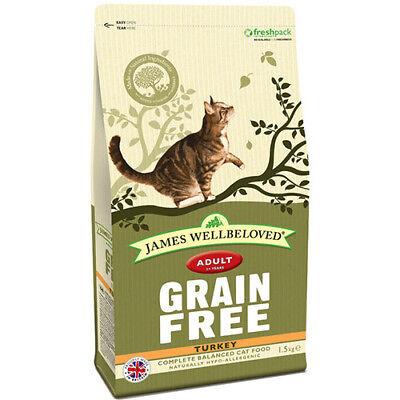 JAMES WELLBELOVED ADULT GRAIN FREE TURKEY COMPLETE DRY CAT FOOD 1.5KG