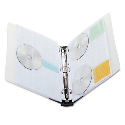 Cddvd Three-ring Refillable Binder Holds 90 Discs Midnight Blueclear