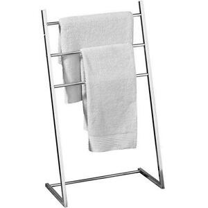 Chrome towel rail ebay Chrome freestanding bathroom furniture