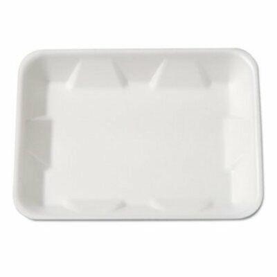 Genpak Supermarket Foam Food Tray White 500 Trays Gnp4dwh