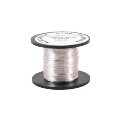 1 x Silver Plated Copper 0.4mm x 20m Round Craft Wire Coil W2040