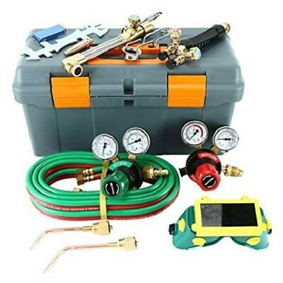 Gas Welding And Cutting Kit Victor Type Acetylene Oxygen Torch Set Regulator Us