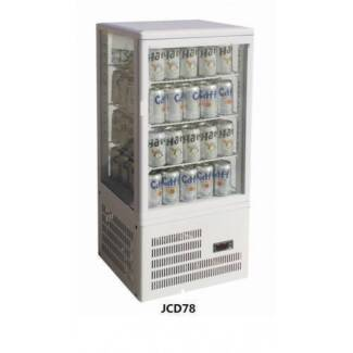 Commercial Glass Fridge - Counter Top Beverage Display 78L