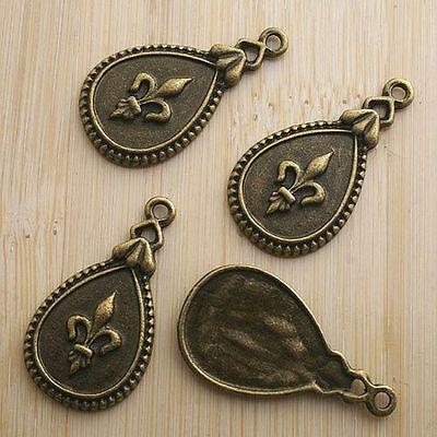 6pcs antiqued bronze pattern drop pendant charm - Antiqued Bronze Pattern