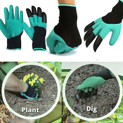 1 pair perfect gloves for garden plants easy gardening with 4 ABS Plastic Claws