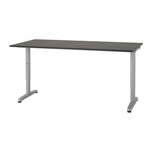 Ikea Galant Desk Black Glass Top 160cm X 80cm