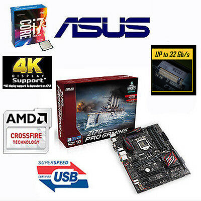 Bundle Intel Core i7 6700K+4x4,20GHz-ASUS Z170 PRO Gaming-Sonderaktion