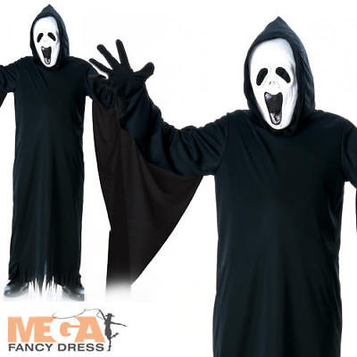 Boys Howling Ghost Costume + Scream Mask Halloween Fancy Dress Kids Costume New ()