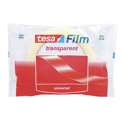 Tesa Film 57342 Transparent Self-adhesive Tape 15mm X 66m