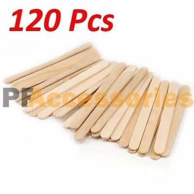120 Pcs Flat Natural Wood Craft Sticks Popsicle Sticks Bulk 4-1/2