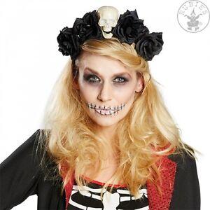 Haarreif La Catrina Mex Totentag Blüten Gothic Halloween Haarschmuck 12415057313