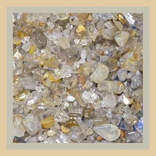 Gemstone Embellishment Golden Rutilated Quartz Small UNDRILLED Chips 50g 1.75 oz