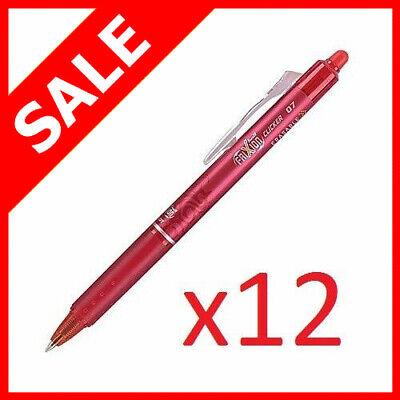 Newpilot Frixion Ball Clicker 0.7 Retractable Erasable Ink Gel Pens Red