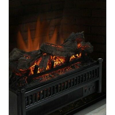Fireplace Logs Electric Insert Space Heater Faux Heaters With Remote Forced Air