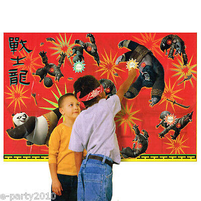 Group Party Games (KUNG FU PANDA 2 PARTY GAME POSTER ~ Birthday Supplies Plastic Decorations)