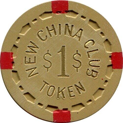 New China Club, Reno $1.00 Casino Chip NR MINT