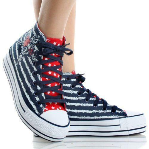 womens high top sneakers canvas skate shoes ebay